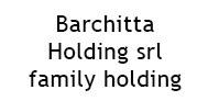 Barchitta Holding srl – family holding